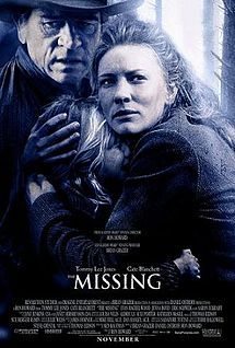 The Missing is a 2003 American Western thriller film directed by Ron Howard, based on Thomas Eidson's 1996 novel The Last Ride. The film is set in 1885 New Mexico Territory is notable for the authentic use of the Apache language by various actors, some of whom spent long hours studying it. The film was produced by Revolution Studios and Imagine Entertainment and distributed by Columbia Pictures.