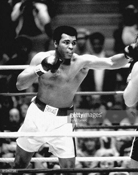 Boxing WBC/WBA Heavyweight Title Muhammad Ali in vs Chuck Wepner at Richfield Coliseum Richfield OH 3/24/1975