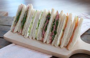 4 sandwiches voor bij de high tea