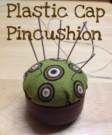 Plastic Cap Pincushion - something to do with all those plastic bottle lids