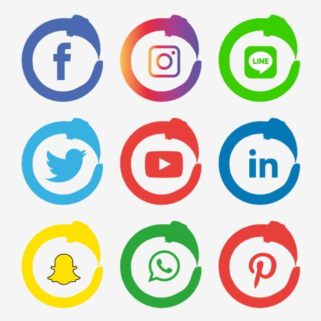 Social Media Icons Set Logo Vector Illustrator Social Icons Logo Icons Media Icons Png And Vector With Transparent Background For Free Download Social Media Icons Vector Logo Social Icons