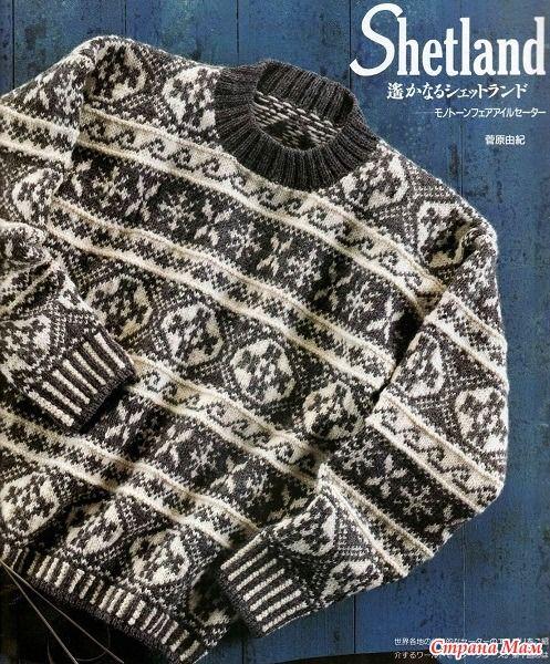 Жаккардовый пуловер для мужчин №2