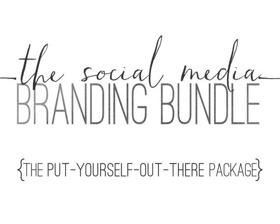 Logo Design Social Media Package  Custom Logo by JustArtinAround
