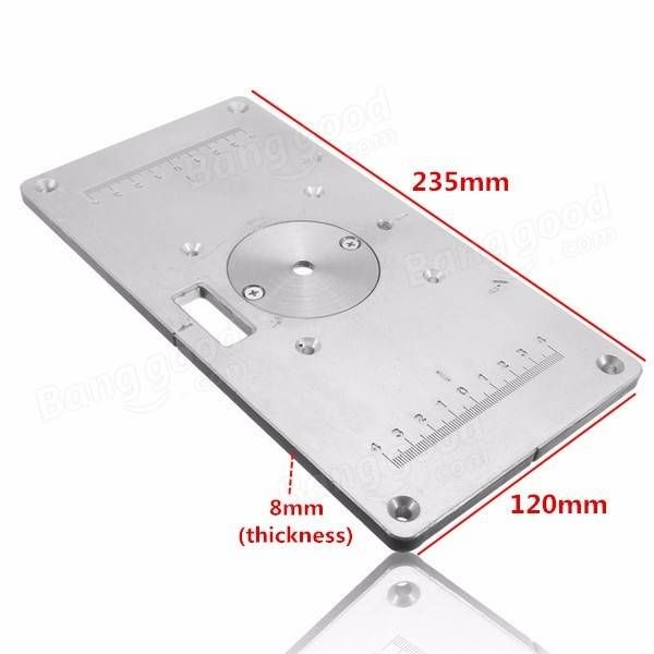 235mm x 120mm x 8mm Aluminum Router Table Insert Plate For Woodworking Sale - Banggood.com