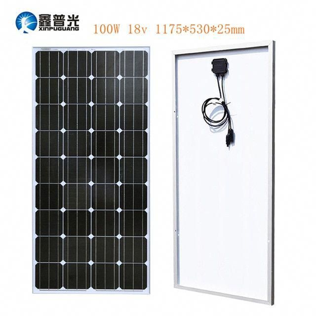 Xinpuguang 100watt 18v Solar Panel Glass Aluminum Monocrystalline Cell Pv Module Kit Mc4 12v Battery Rv Light In 2020 Best Solar Panels Solar Panels Solar Installation
