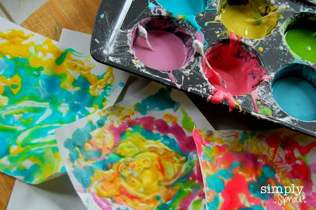 Homemade Puffy Paint ~ Simply Sprout