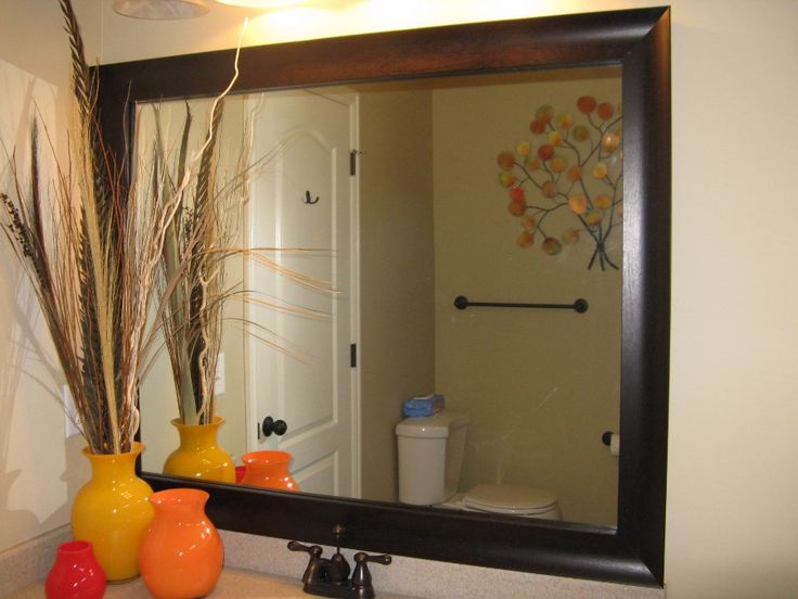 21 Best Bathroom Mirror Ideas To Reflect Your Style: 11 Best Frames For EXISTING Mirrors Images On Pinterest