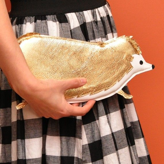Orwell Clutch - Gunmetal Hedgehog Purse.  Yes, I own this.  In fact, since mine was the first, this is probably mine.