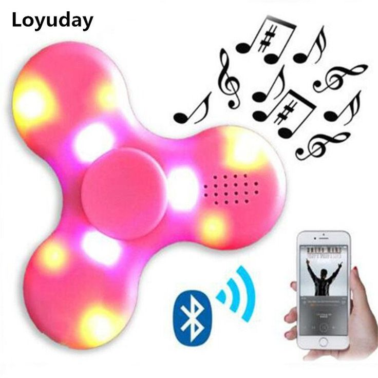Hot hand spinner fidget LED bluetooth speaker lead figit finger gyro tri cube toy child adult gyroscope anti stress smoking