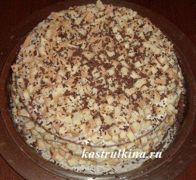 Домашний торт-сметанник с кофе и ликером, рецепт с пошаговыми фото