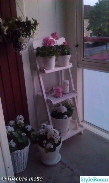 balkong,inglasad balkong,pelargoner,rosa,shabby