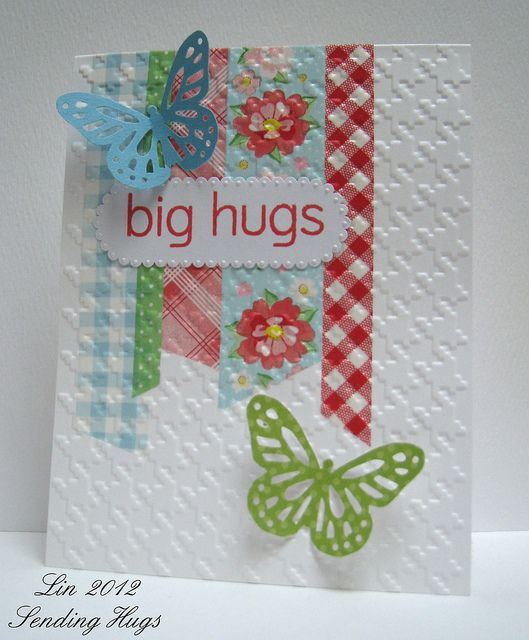 Card Making Ideas Using Washi Tape Part - 19: Love The Look Of The Washi Tape Being Embossed With The Rest Of The  Cardstock | · Washi Tape CardsWashi ...