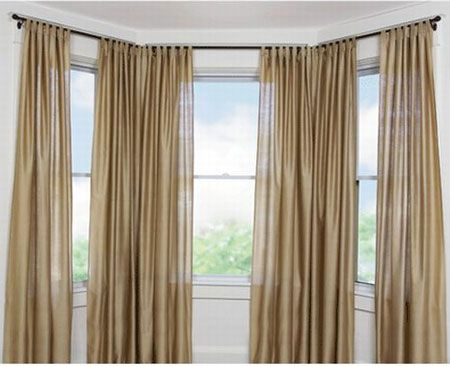 Curtains for bay windows bay window curtains modern - Modern bay window curtains ...