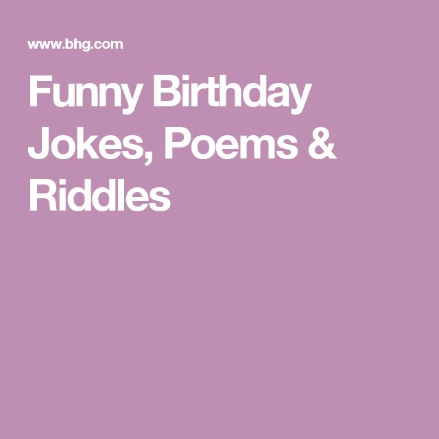 25+ Beste Ideeën Over Funny Birthday Poems Op Pinterest