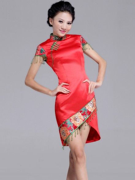 Short Cheongsam / Qipao / Chinese Wedding / Evening Dress