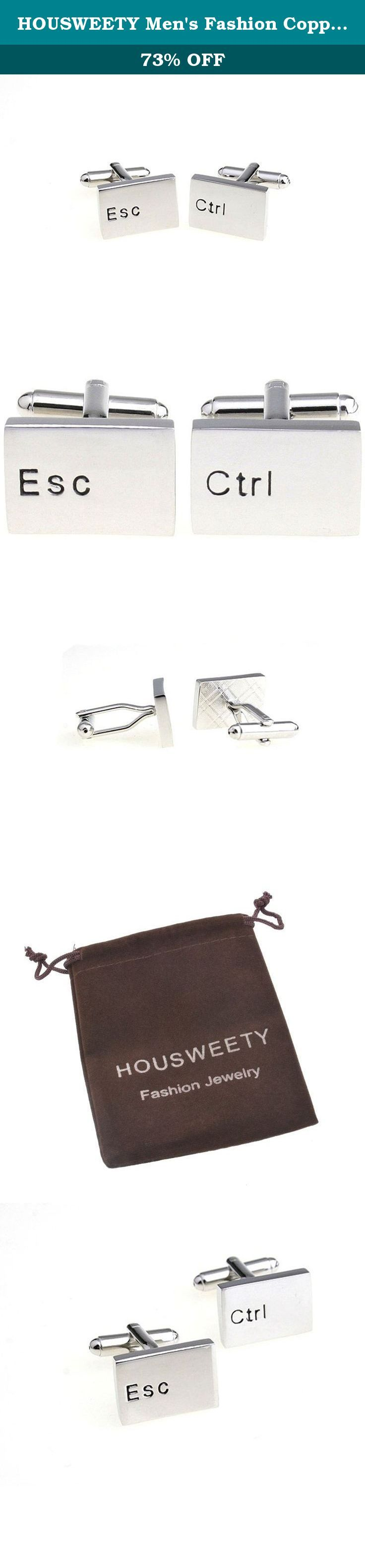 HOUSWEETY Men's Fashion Copper Cuff Links Vacuum Plating Computer Keyboard Ctrl ESC Cufflinks. Description: Trying to find a right gift for the men in your life? Consider the cuffkinks. 100% brand new item,impressive craftsmanship,unique meaning; As an important part of your clothes, it would be a perfect trimming for Weddings, Proms,Pageants, Parties, Birthday, or any other special occasions. Perfect match with a variety style of clothes, each one has an unique themes which makes you...