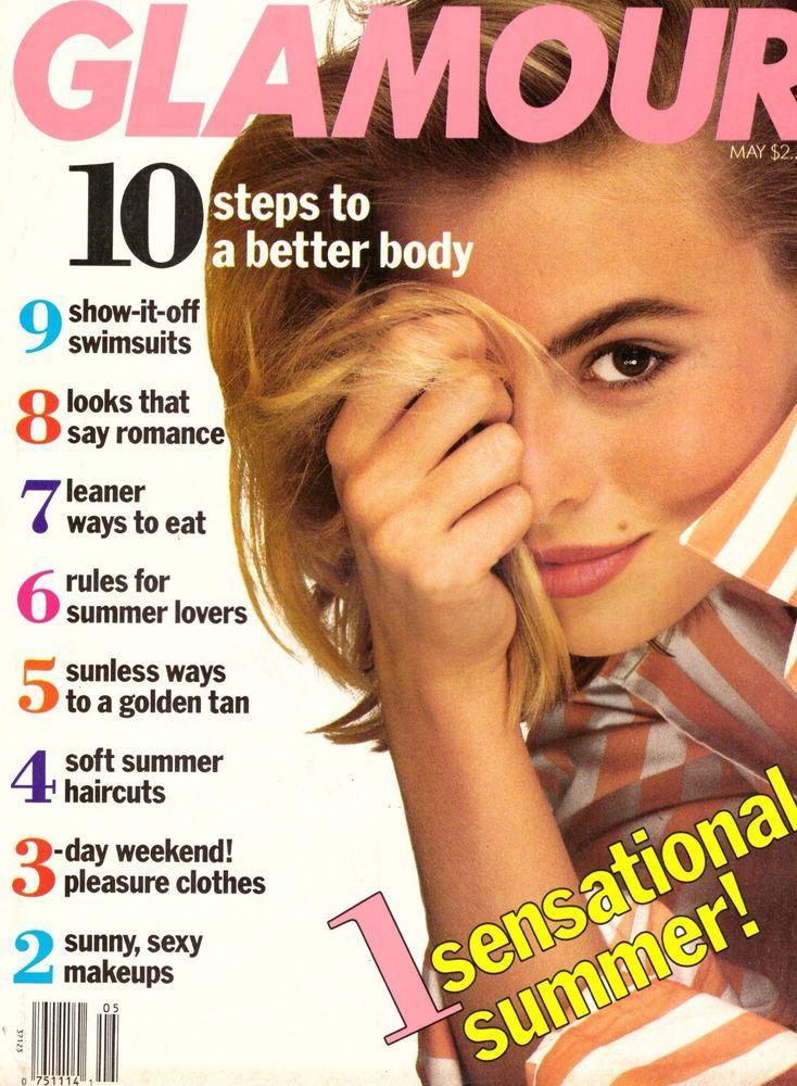 1990 Glamour Magazine Niki Taylor Martina Navratilova Wilson Phillips Sex 90s | eBay