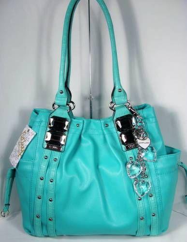 Kathy Van Zeeland Bag Glam Rock Shopper Ocean Blue I just love Kathy Van Zeeland purses c: