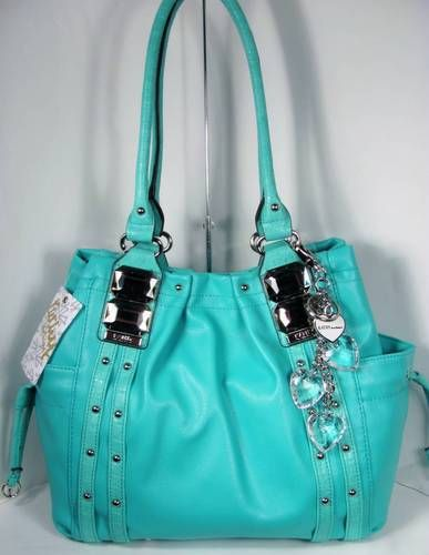 Kathy Van Zeeland Bag Glam Rock Shopper Ocean Blue I just love Kathy Van Zeeland purses c: