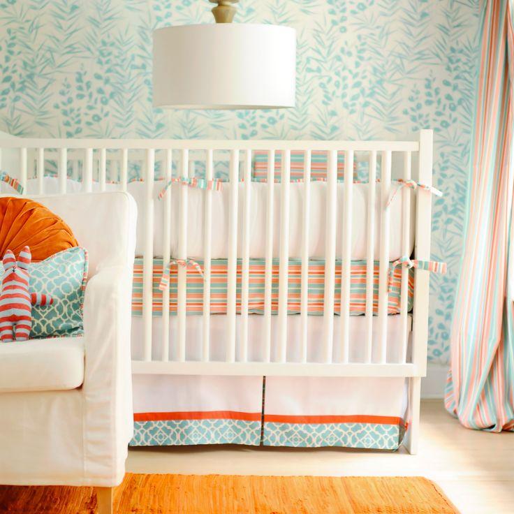 124 Best Nursery Aqua And Orange Images On Pinterest