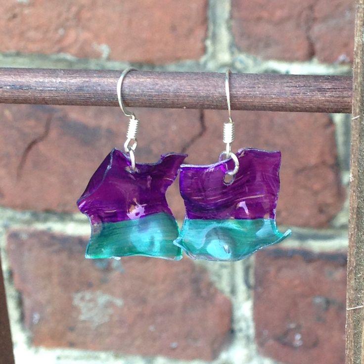 Boucles d'oreilles originales - recyclage de bouteille plastique