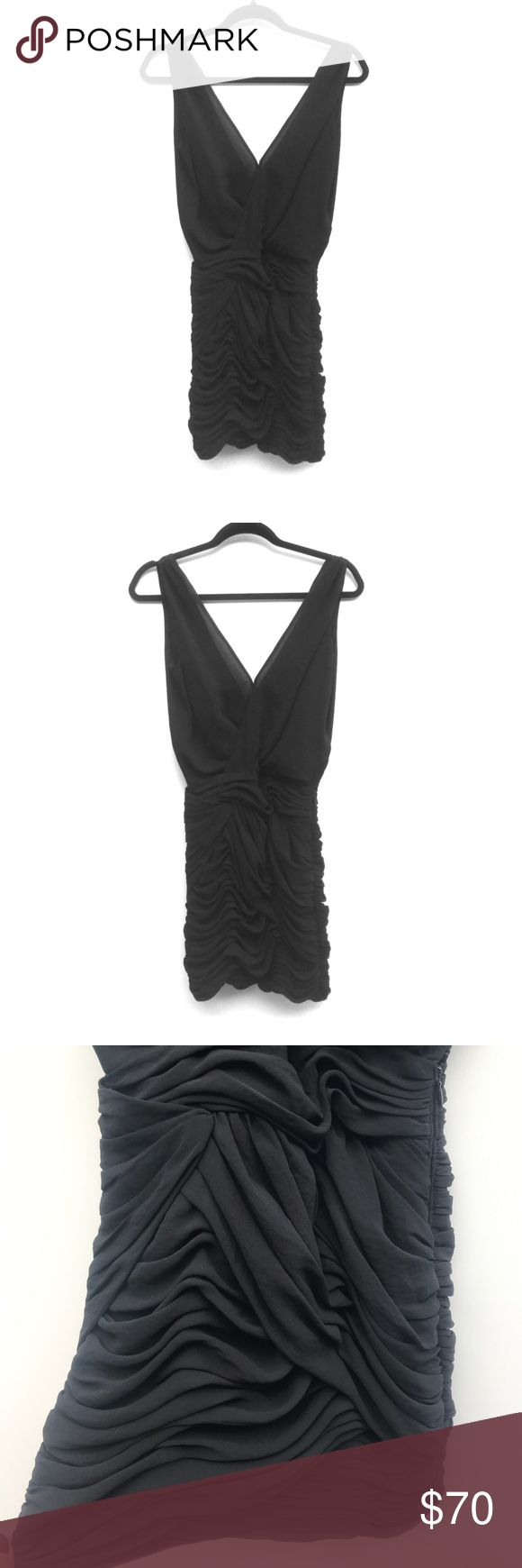 Armani Exchange Little Black Cocktail Dress💜 Sz 0 Armani Exchange Little Black Cocktail Dress💜 Sz 0- Mini Dress above knee. Scrunched bottom. fabulous condition! Perfect with heels &accessories. 100% polyester. A/X Armani Exchange Dresses Mini
