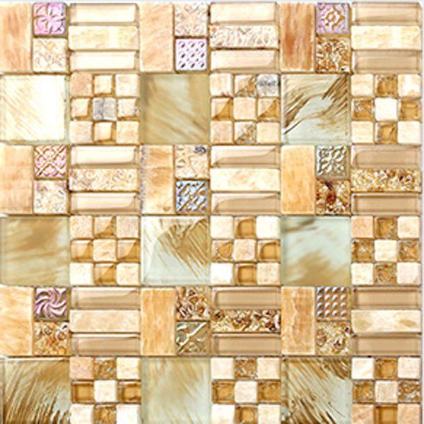 Cheap Pittura bagno piastrelle beige tessere di mosaico in pietra piastrella bagno mattonelle della parete di arte ktichen backsplash di vetro…