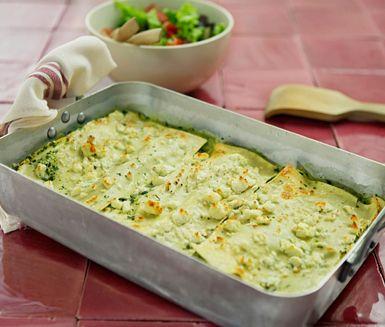 Grön lasagne