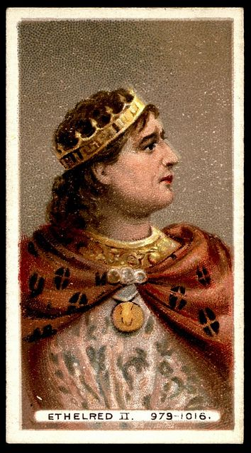 Ethelred the Unready - King of England 978-1013 and 1014-1016. He was the son of King Edgar and his wife, Aelfthryth.