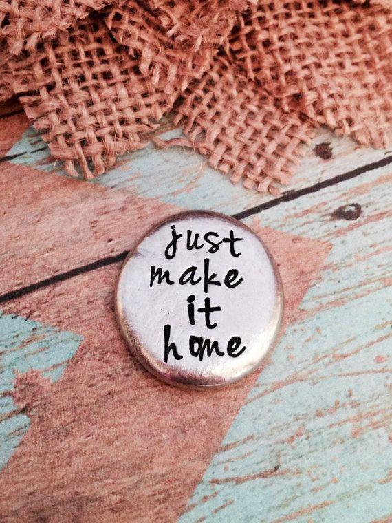 Pocket token Just make it home-be safe by ChristinesImpression
