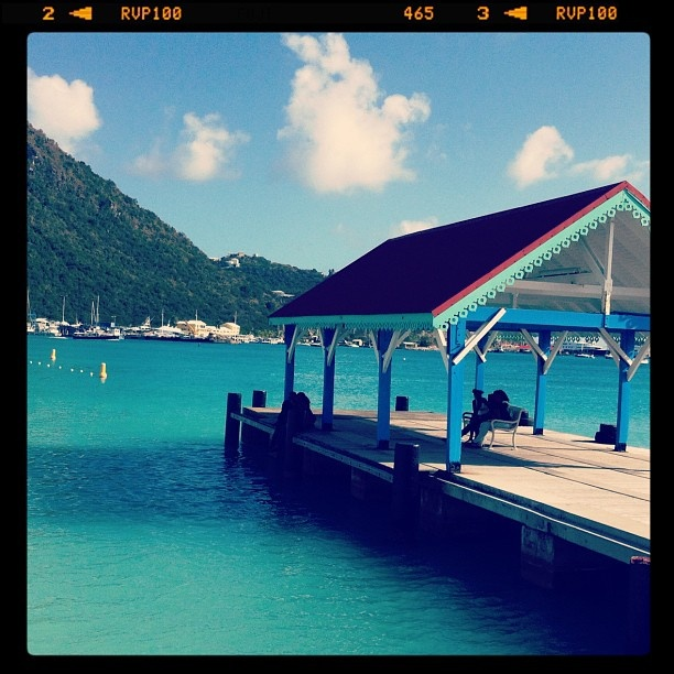 This photo is from the dock in St. Maarten waiting to go to St. Barth