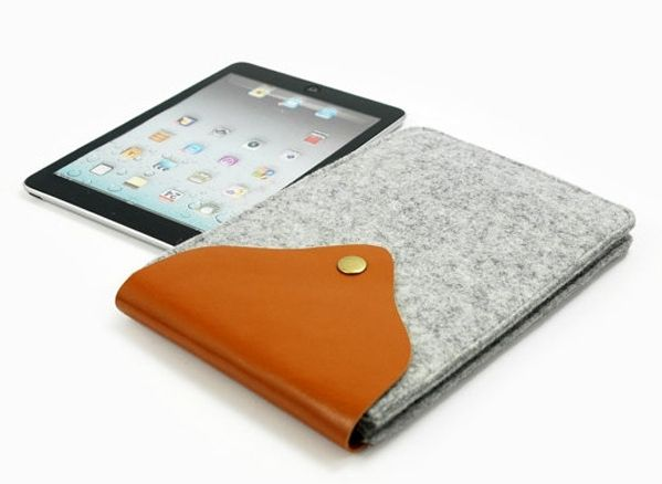 100% Wool Felt iPad Air Case iPad Air Sleeve, wool felt ipad air case Material:Wool Felt Size:ipad air,ipad 4,3,2 Waterproof, fireproof safe. Soft feel and very light weight. Environmentally friendly materials. Sustainable, renewable energy and biodegradable.  Wool Felt iPad Air Case from direct factory in china