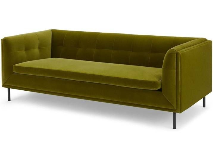 Farley Grosses 2 Sitzer Sofa Samt In Olivgruen In 2020 Furniture Sofa Couch