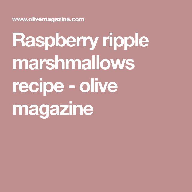 Raspberry ripple marshmallows recipe - olive magazine