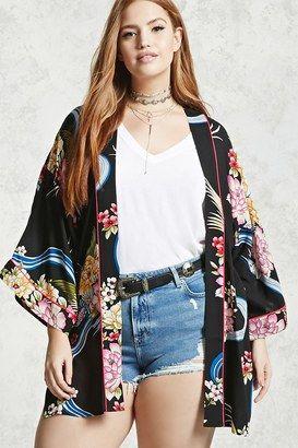 Shop Now - >  https://api.shopstyle.com/action/apiVisitRetailer?id=634762642&pid=uid6996-25233114-59 FOREVER 21+ Plus Size Floral Kimono  ...
