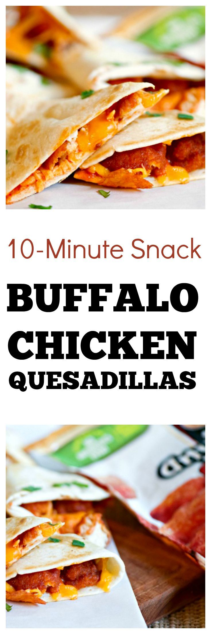Buffalo Chicken Quesadilla Recipe | Easy snack recipe #ad #snackideas #cheesy