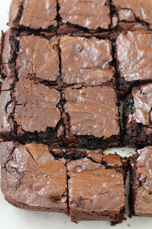 Chocolatey, fudgey, gooey and everything good. These Triple Threat Brownies are the best brownies ever. You have to try this recipe!