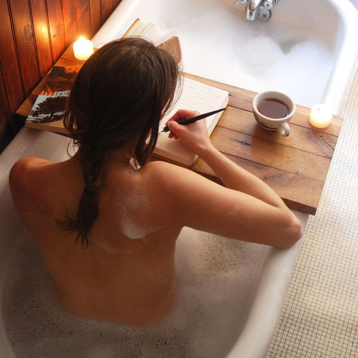 Wooden Tub Caddy in Natural - Unique Modern Furniture - Dot & Bo