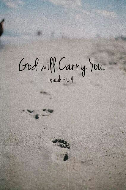 God carries me....