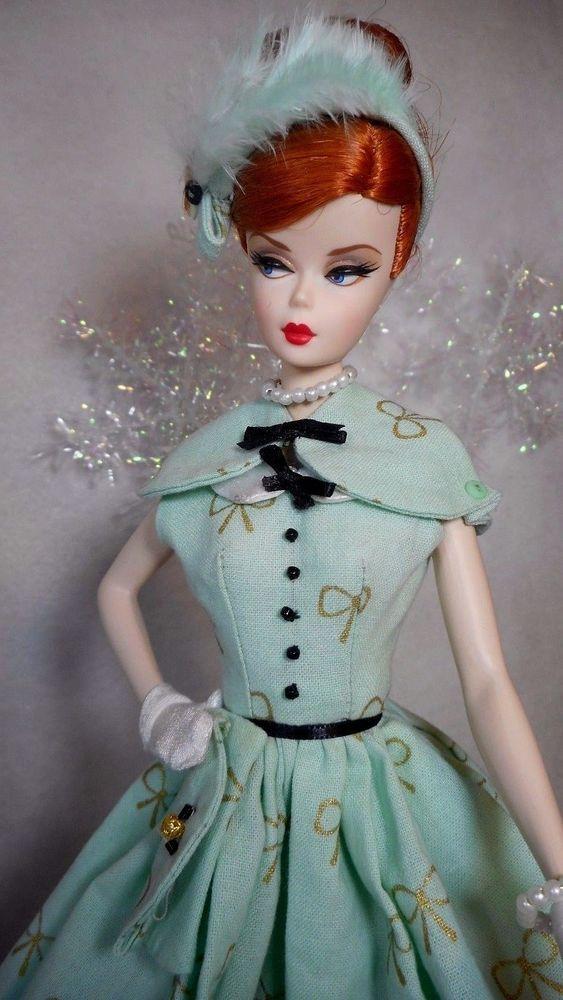 Vintage Barbie Reproduction Silkstone Fr Fashion VR Handmade Dress OOAK Mary | eBay