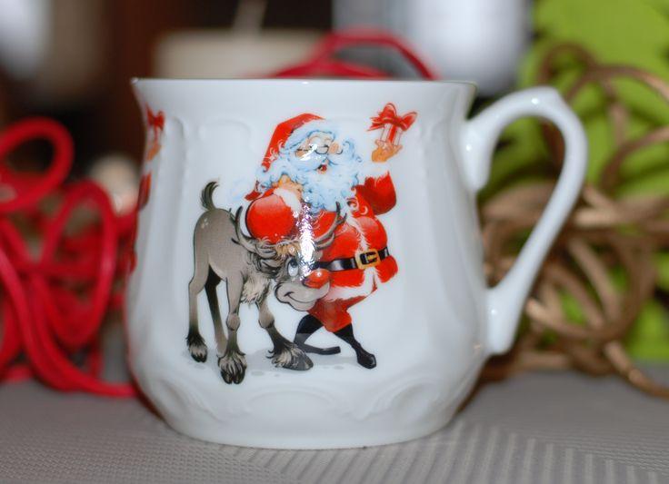 Kubek śląski (500 ml) Mikołaj z reniferem  Silesia mug (500ml) Santa Claus with reindeer