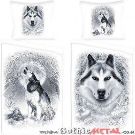 Funda nórdica White Wolf