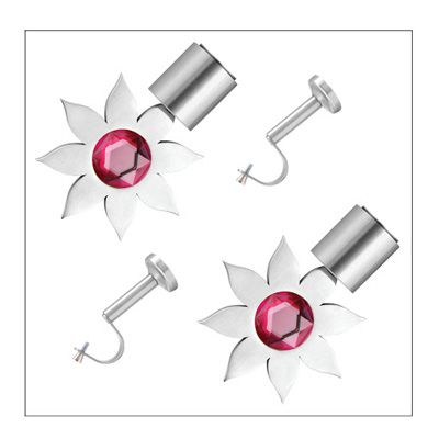 Buy CME Stainless Steel Pink Curtain Bracket With Single Support Poles - Set Of 4 by CME, on Paytm, Price: Rs.1099
