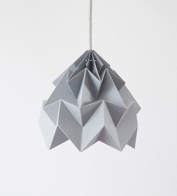 Hey, I found this really awesome Etsy listing at http://www.etsy.com/listing/101262550/moth-origami-paper-lamp-shade-gray