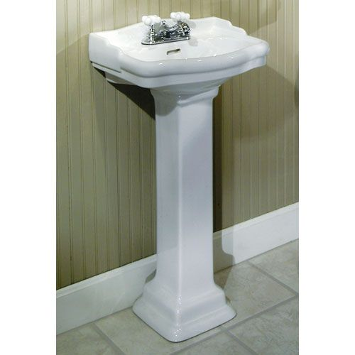 "Stanford Mini Pedestal Sink with 4"" Centers"