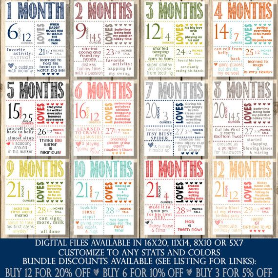 Monthly Stickers, Baby Monthly Milestones, Month to Month ...
