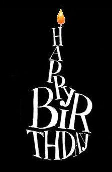 Happy Birthday black white O.K. for man