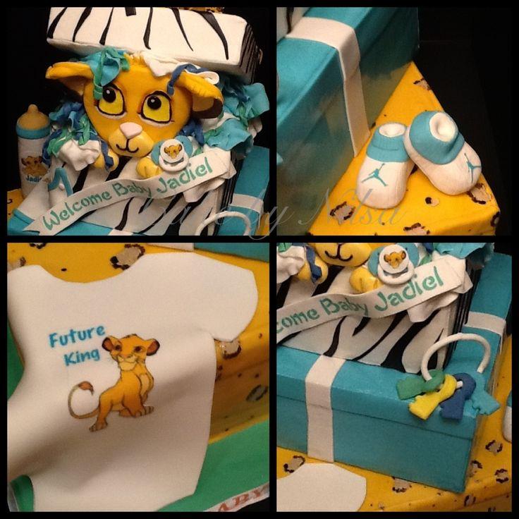 Perfect Simba Baby Shower Cake