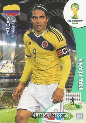 Card 86: Falcao - Panini FIFA World Cup Brazil 2014. Adrenalyn XL - laststicker.com