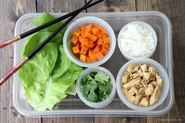 Easy Chicken Lettuce Wraps - quick healthy dinner recipe with an easy teriyaki sauce   SnappyGourmet.com